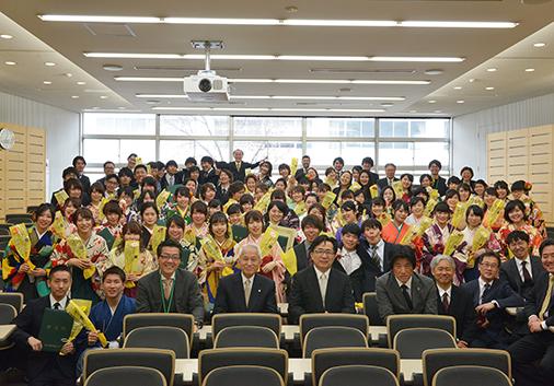 名古屋学芸大学合同学位記授与式